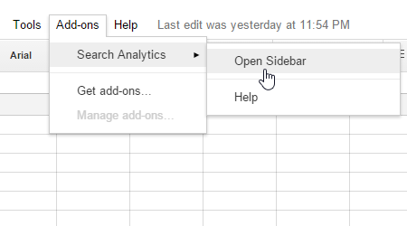 how to add a toolbar on google sheets